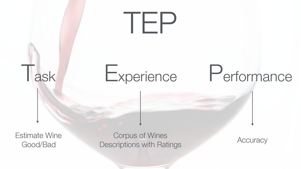 Task Experience Performance Estimate Wine Good/...