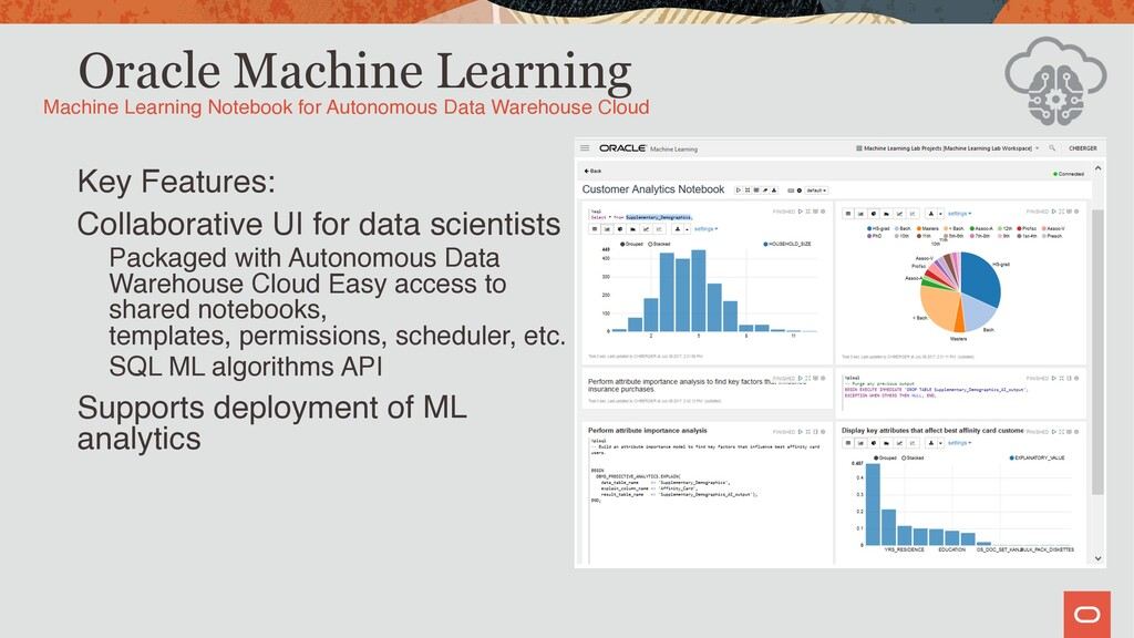 Oracle Machine Learning Key Features: Collabora...