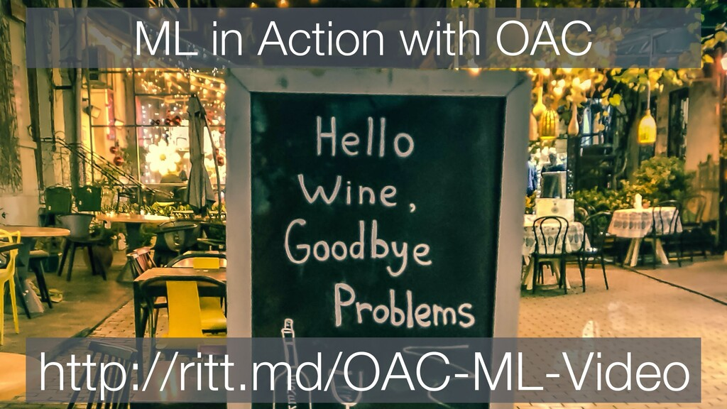 ML in Action with OAC http://ritt.md/OAC-ML-Vid...