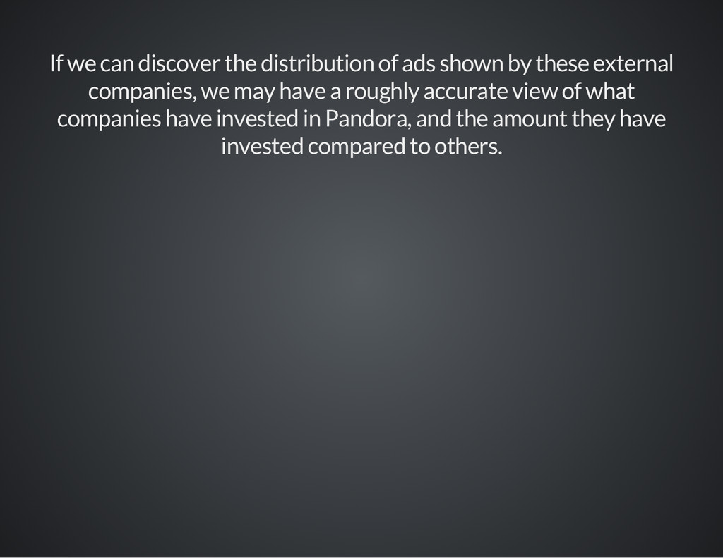 If we can discover the distribution of ads show...