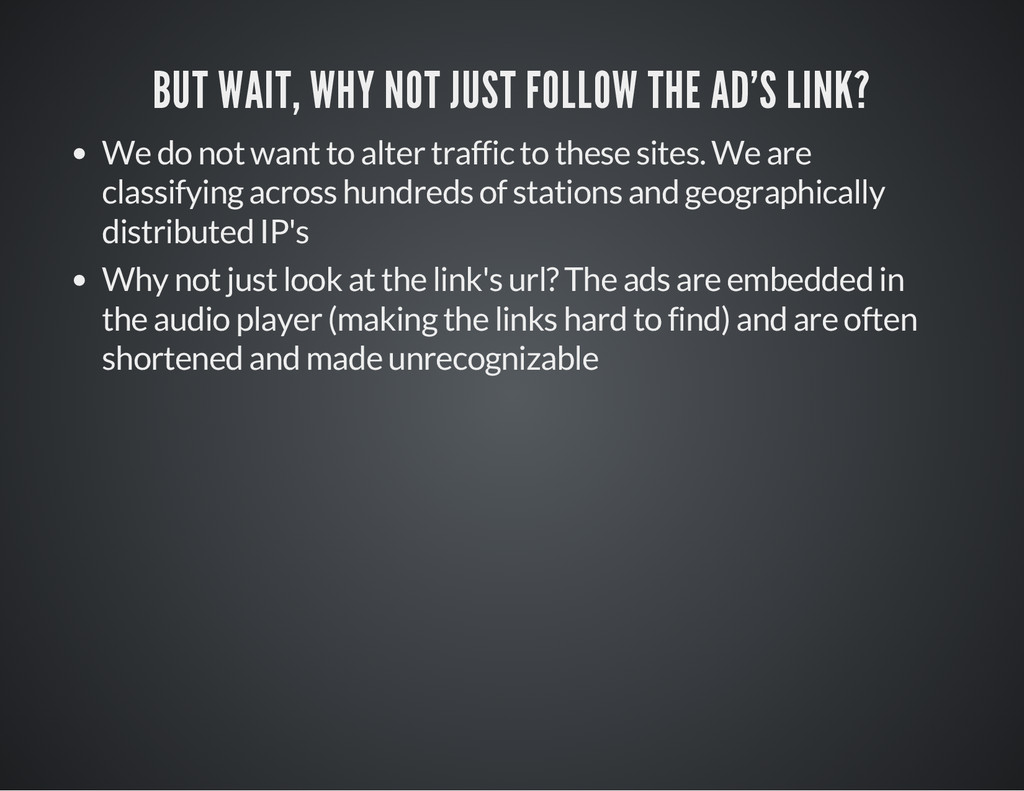 BUT WAIT, WHY NOT JUST FOLLOW THE AD'S LINK? We...