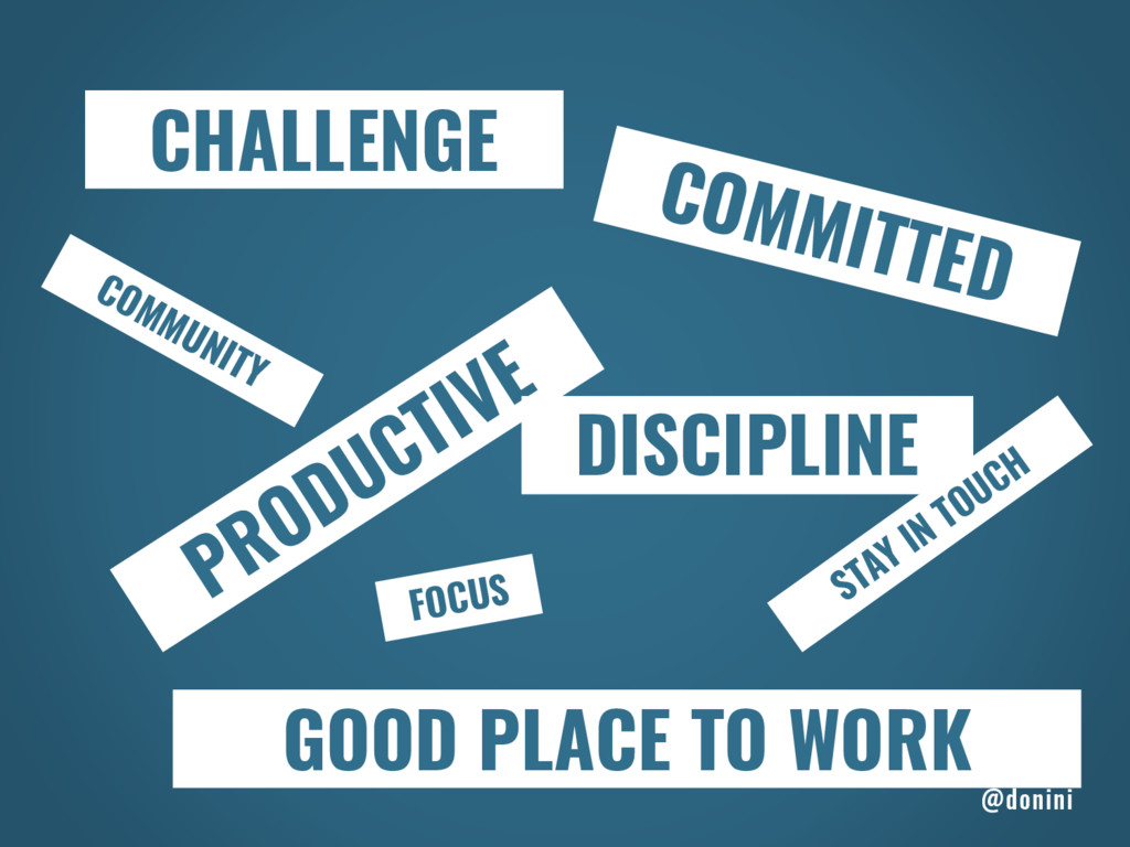 CHALLENGE COMMITTED PRODUCTIVE DISCIPLINE GOOD ...
