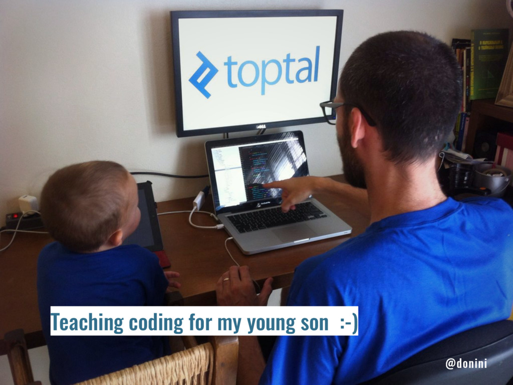 Teaching coding for my young son :-) @donini