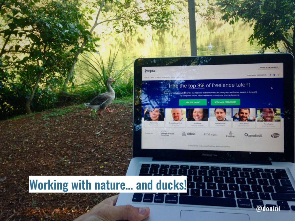 Working with nature… and ducks! @donini