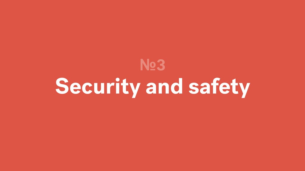Security and safety №3