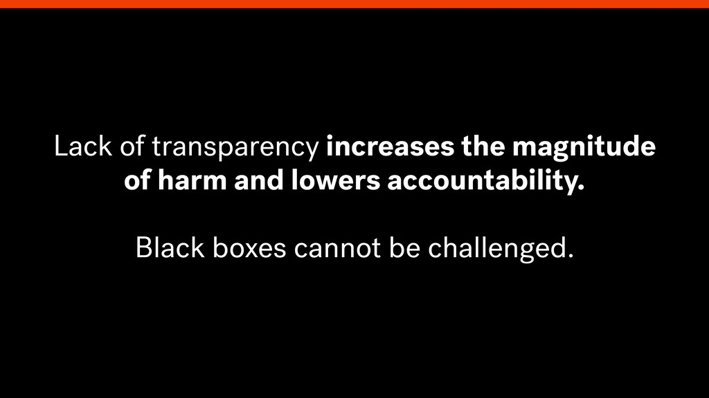 Lack of transparency increases the magnitude of...