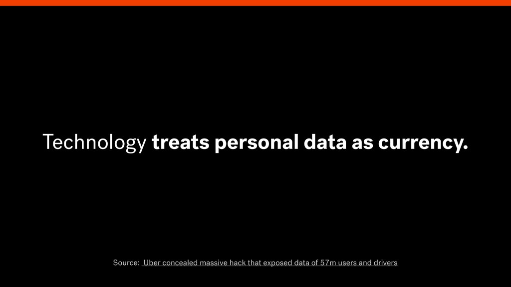 Technology treats personal data as currency. So...