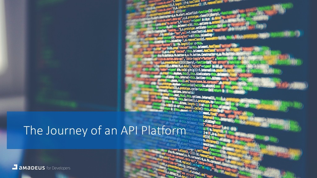 The Journey of an API Platform