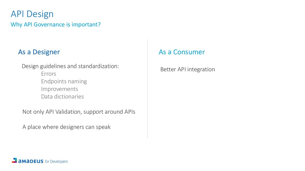 API Design Why API Governance is important? As ...