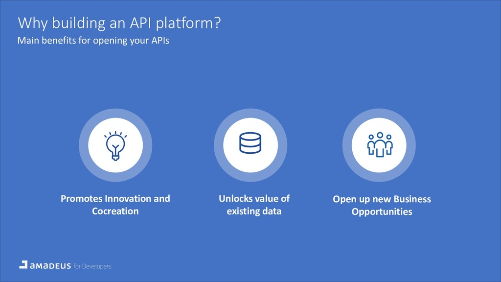 Why building an API platform? Main benefits for...