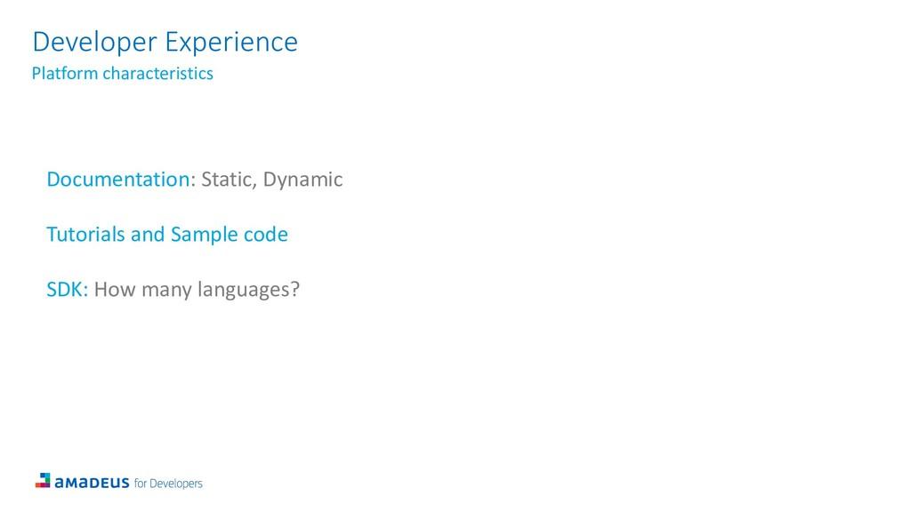Developer Experience Platform characteristics D...