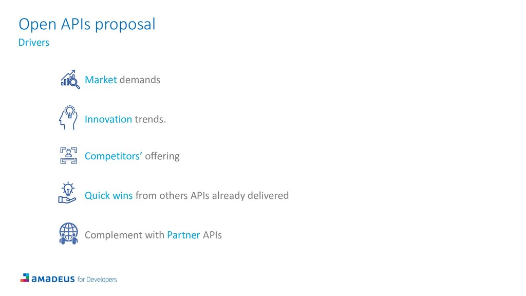 Open APIs proposal Drivers Market demands Innov...
