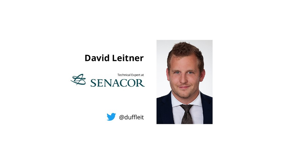 David Leitner Technical Expert at @dufeit