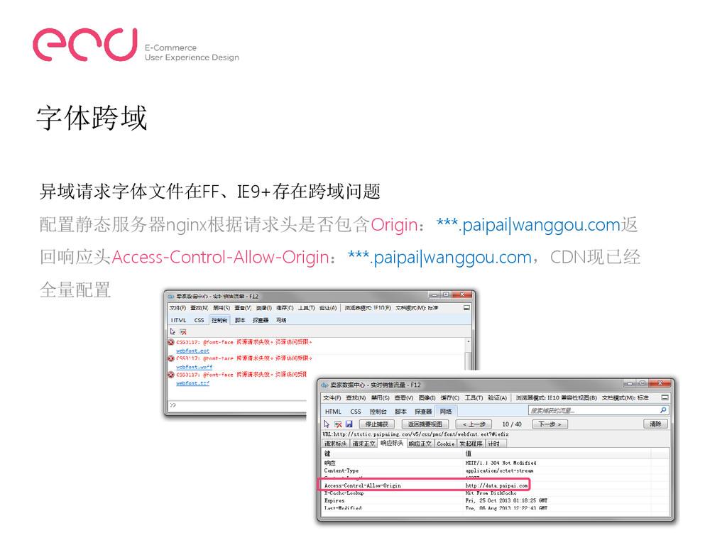 字体跨域 异域请求字体文件在FF、IE9+存在跨域问题 配置静态服务器nginx根据请求头是否...