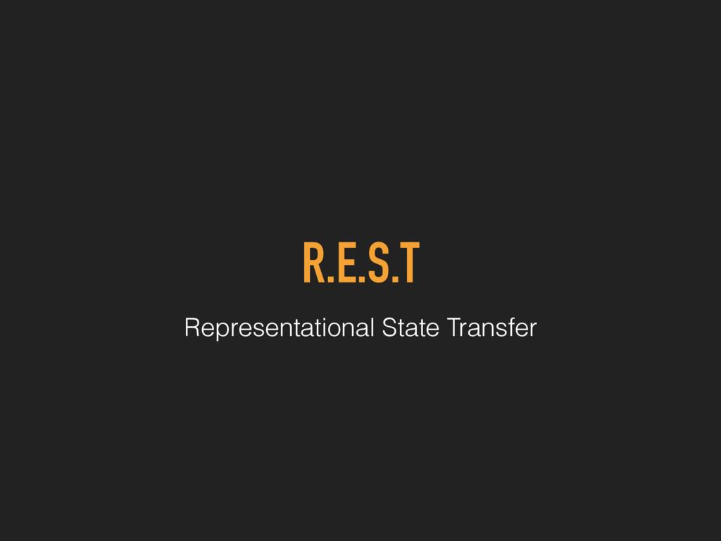 R.E.S.T Representational State Transfer