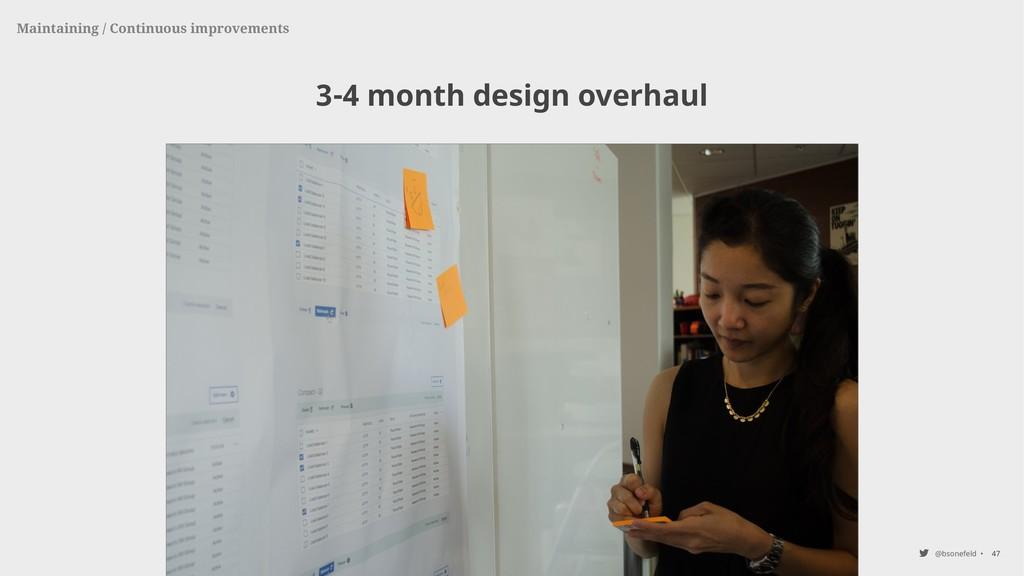 @bsonefeld • 3-4 month design overhaul 47 Maint...