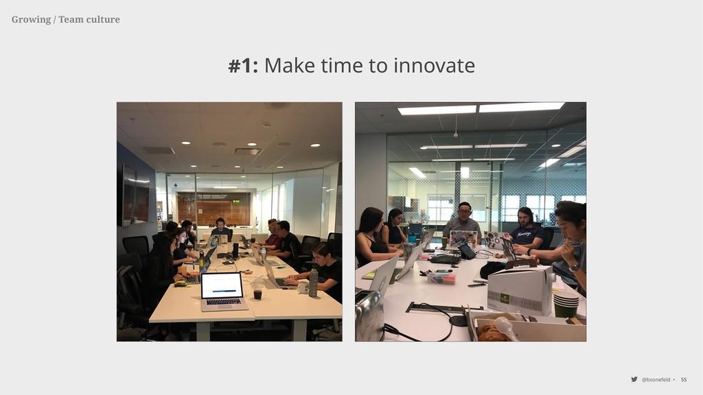 @bsonefeld • #1: Make time to innovate 55 Growi...