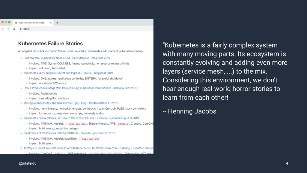 """Kubernetes is a fairly complex system with man..."