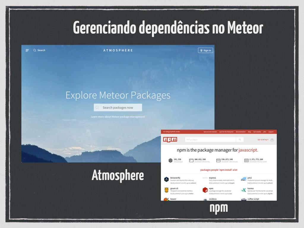 Gerenciando dependências no Meteor Atmosphere n...