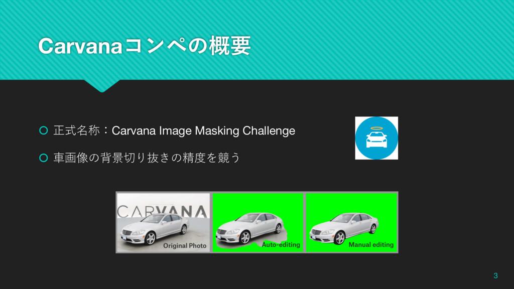 Carvanaίϯϖͷ֓ཁ š 正式名称:Carvana Image Masking Chal...