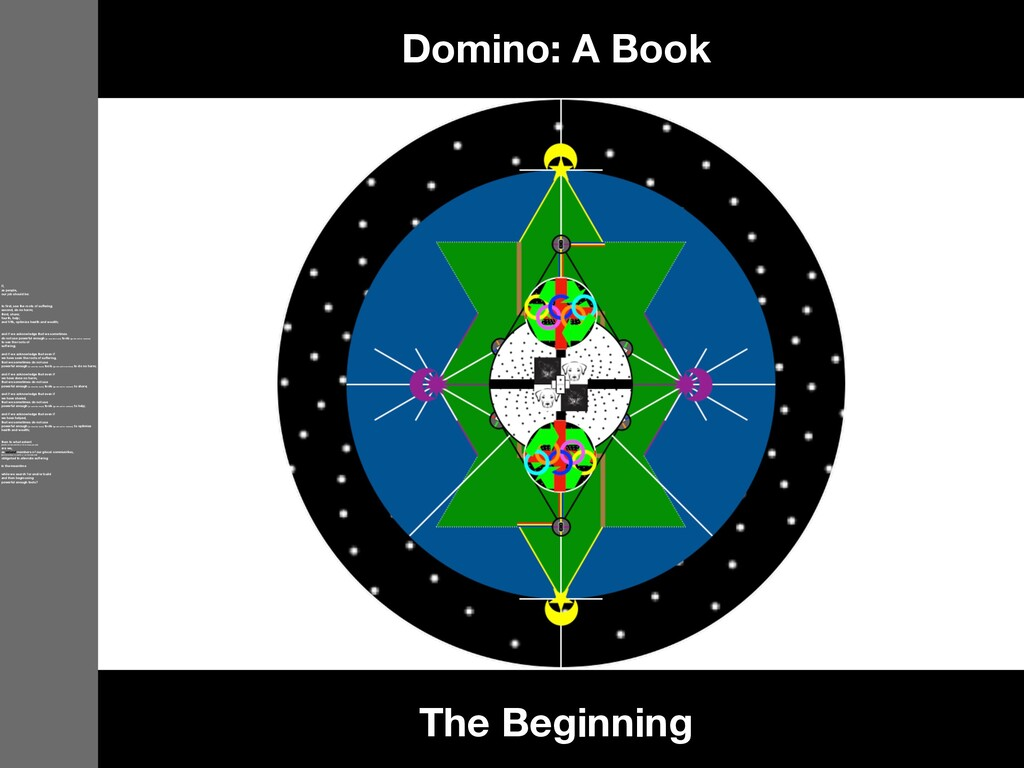 The Beginning Domino: A Book If, as people, our...