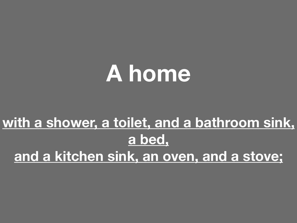 A home with a shower, a toilet, and a bathroom ...