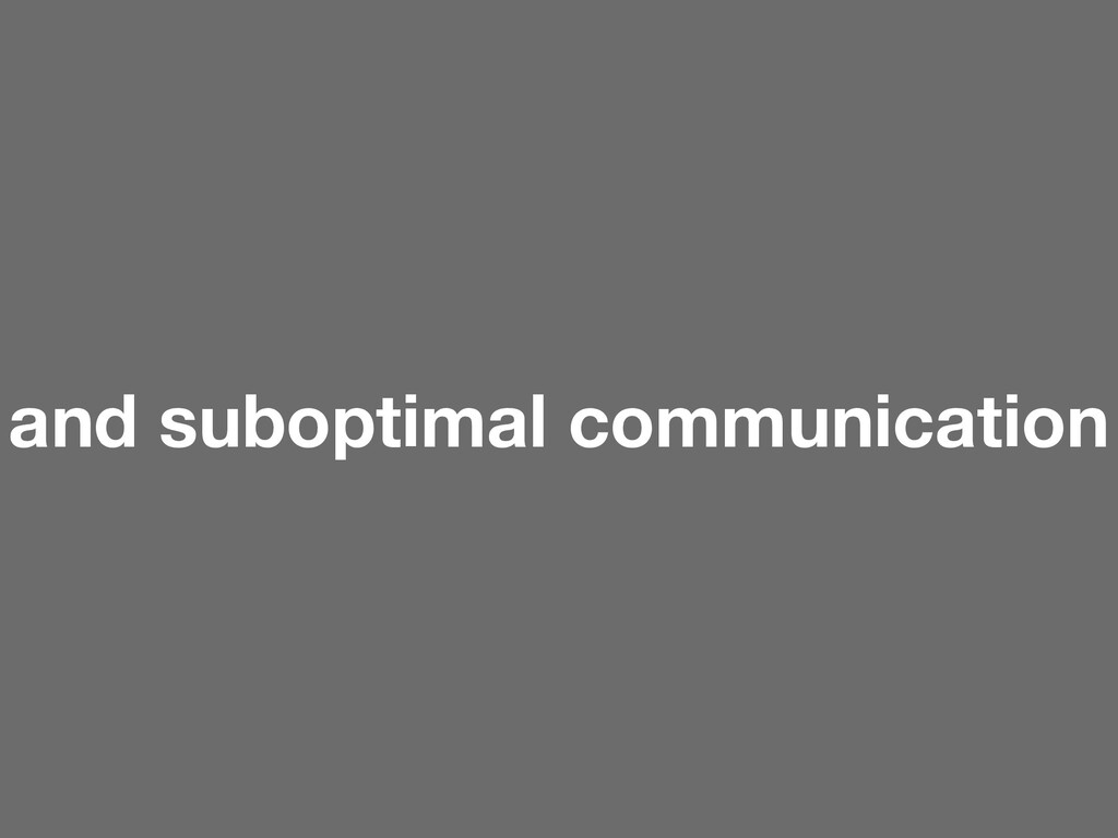 and suboptimal communication