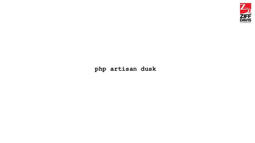 php artisan dusk