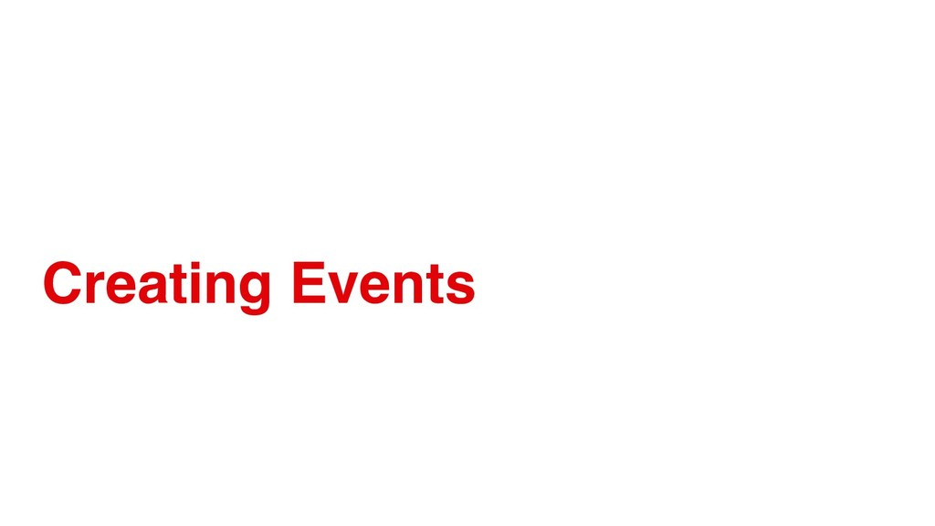 Creating Events