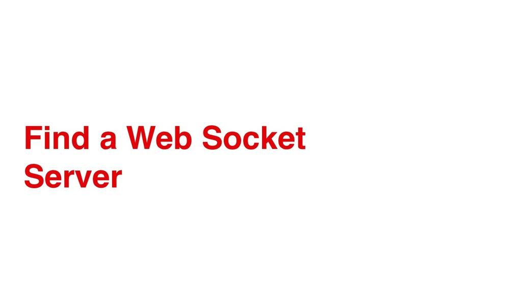Find a Web Socket Server
