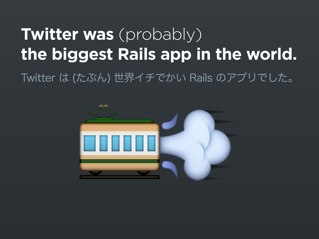 Twitter was (probably) the biggest Rails app in...