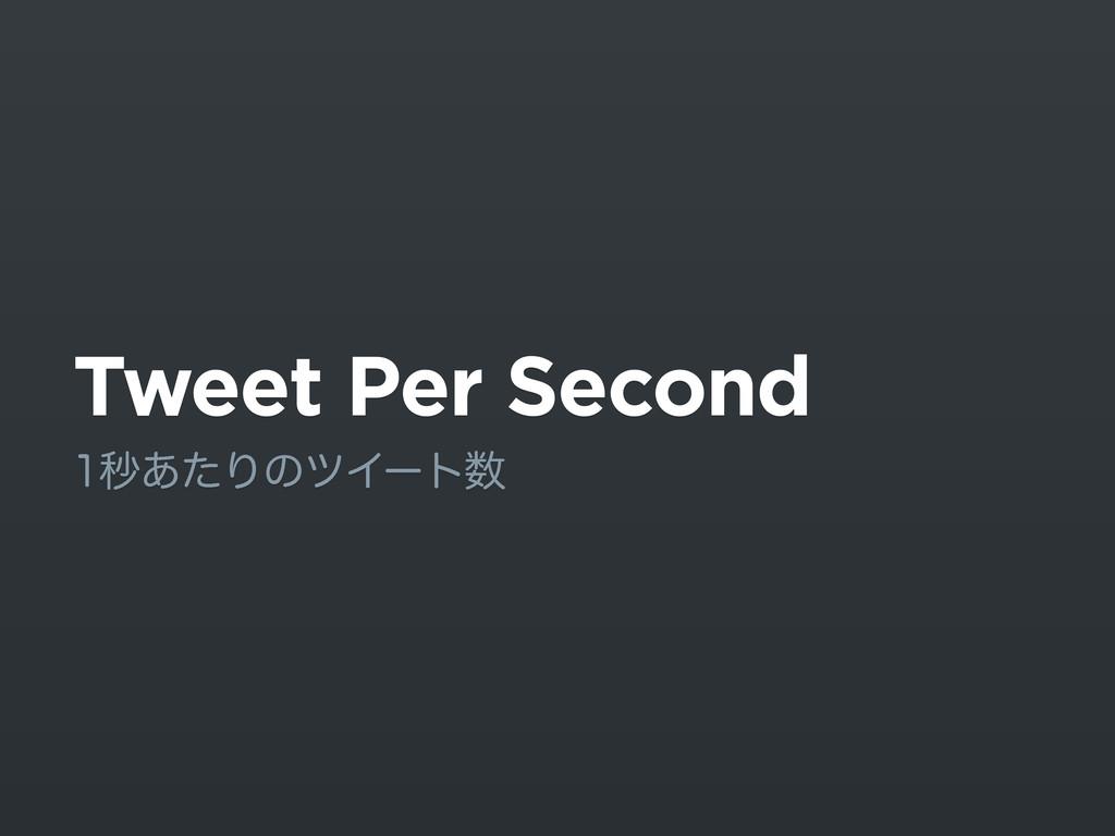 Tweet Per Second ඵ͋ͨΓͷπΠʔτ
