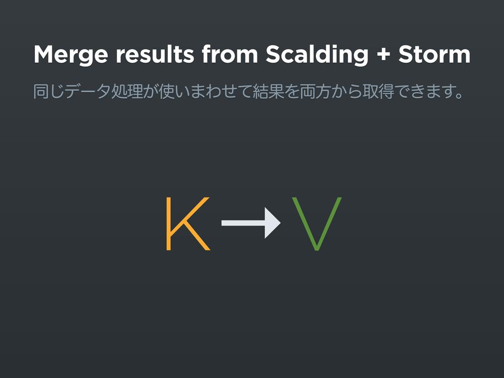 Merge results from Scalding + Storm ಉ͡σʔλॲཧ͕͍·...