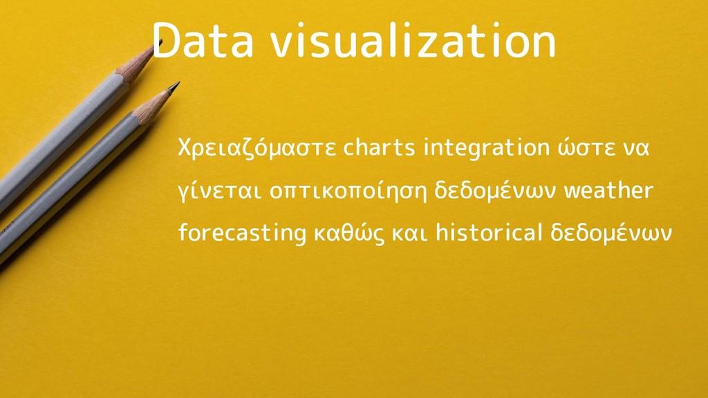 Data visualization Χρειαζόμαστε charts integrat...