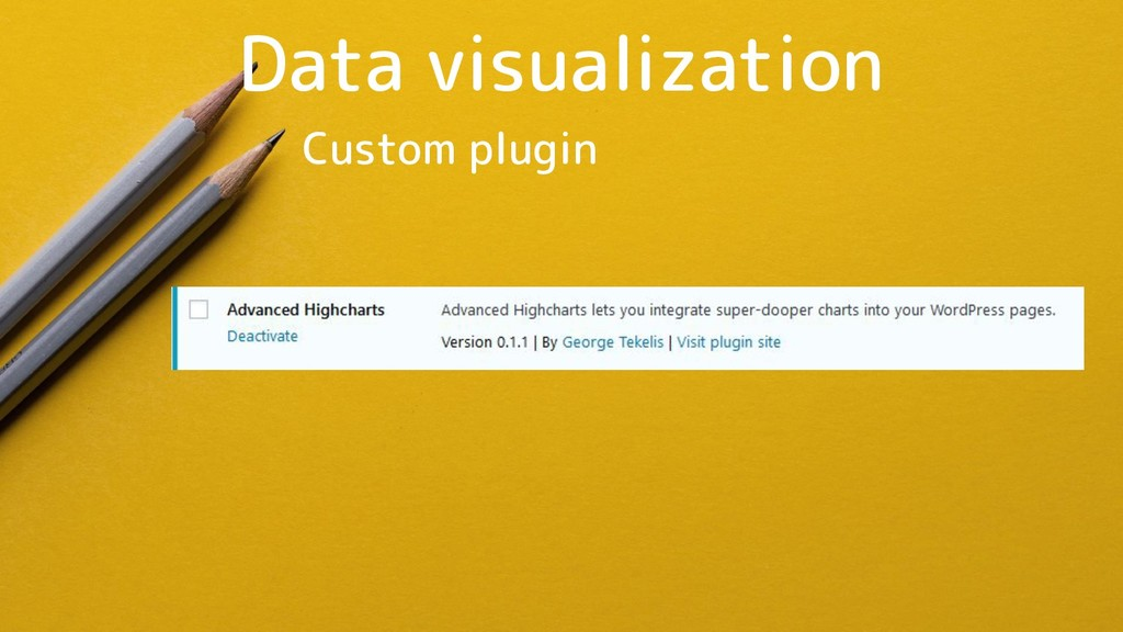 Data visualization Custom plugin