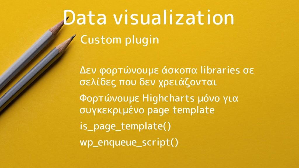 Data visualization Δεν φορτώνουμε άσκοπα librar...