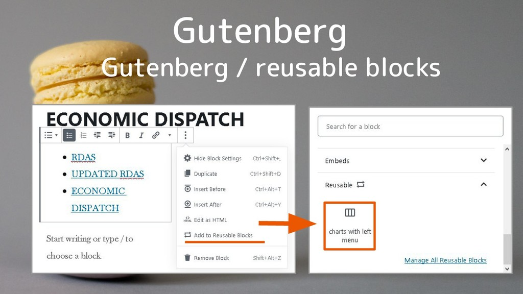 Gutenberg Gutenberg / reusable blocks