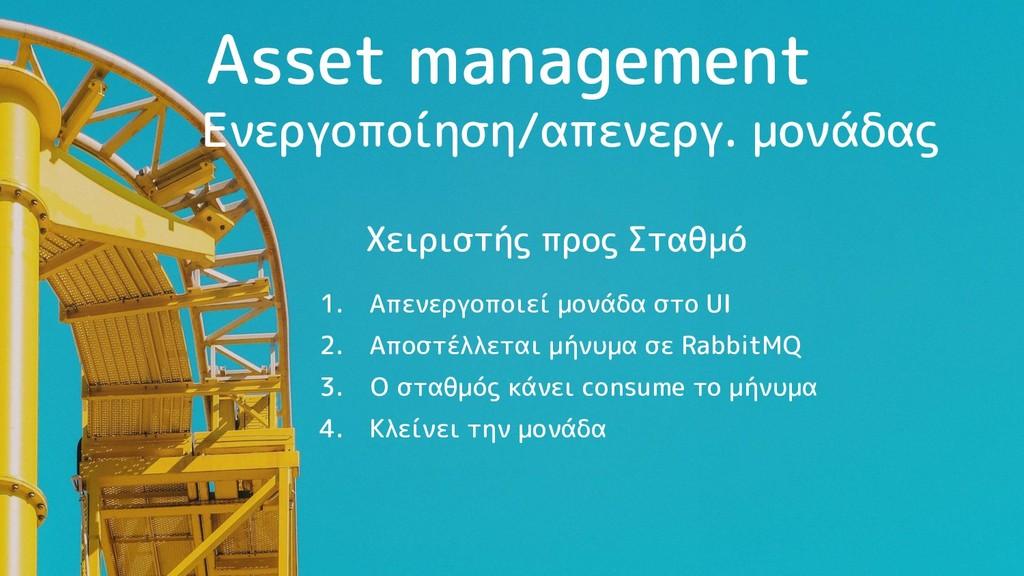 Asset management 1. Απενεργοποιεί μονάδα στο UI...