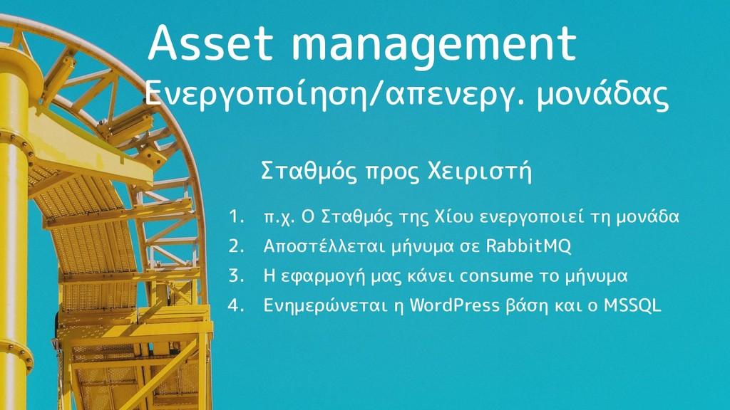 Asset management 1. π.χ. Ο Σταθμός της Χίου ενε...