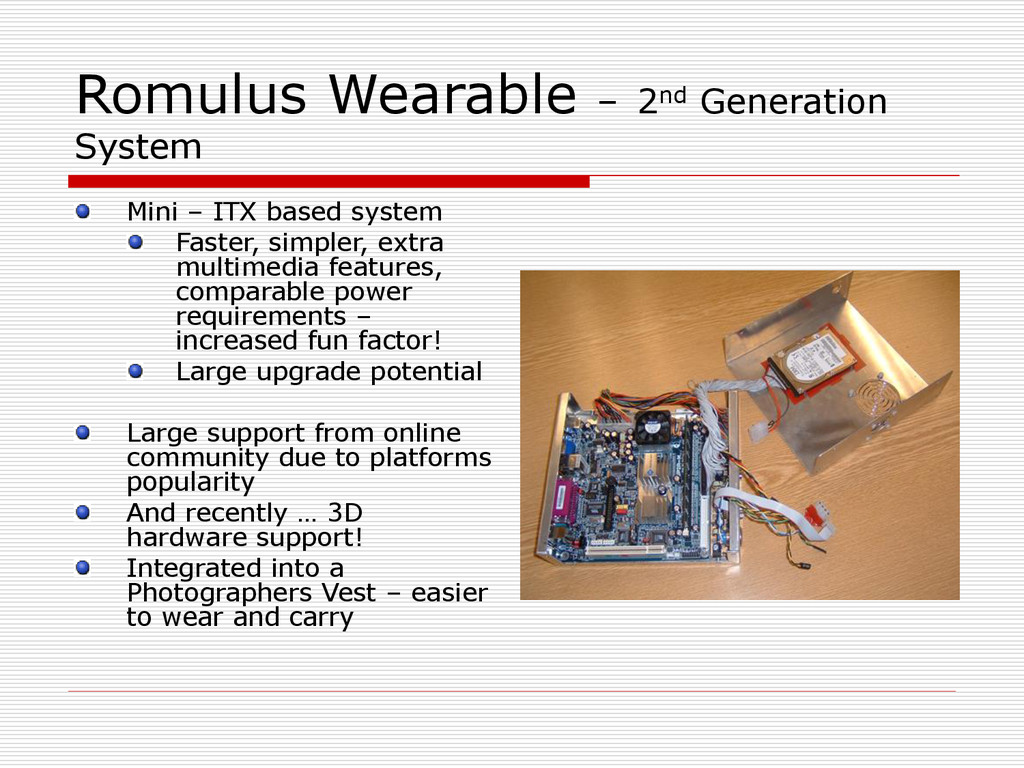 Romulus Wearable – 2nd Generation System Mini –...