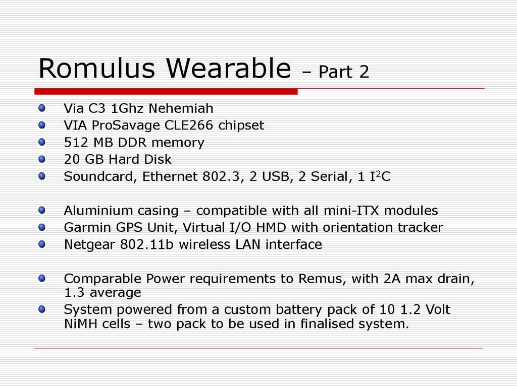 Romulus Wearable – Part 2 Via C3 1Ghz Nehemiah ...