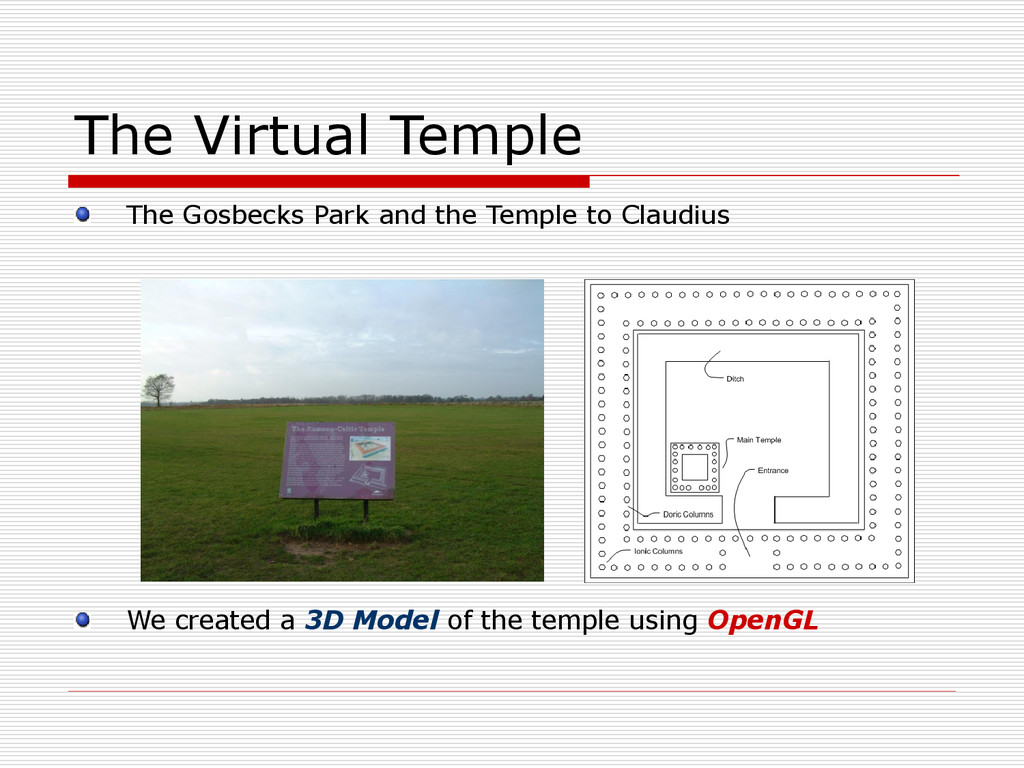 The Virtual Temple The Gosbecks Park and the Te...