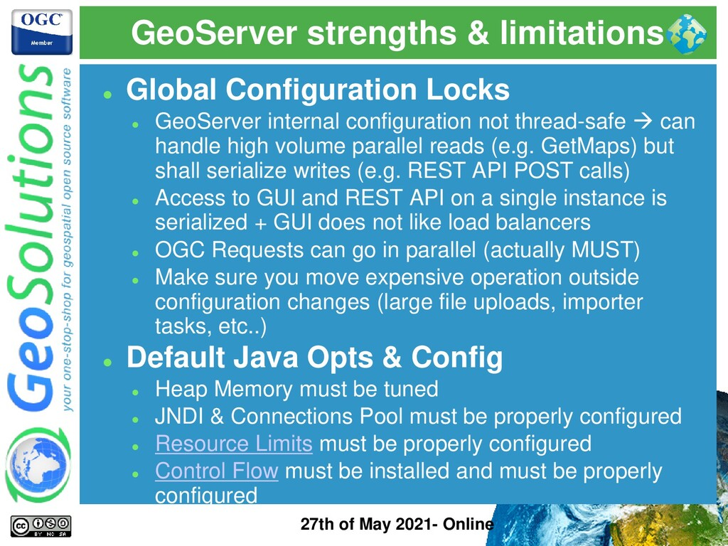 GeoServer strengths & limitations 27th of May 2...