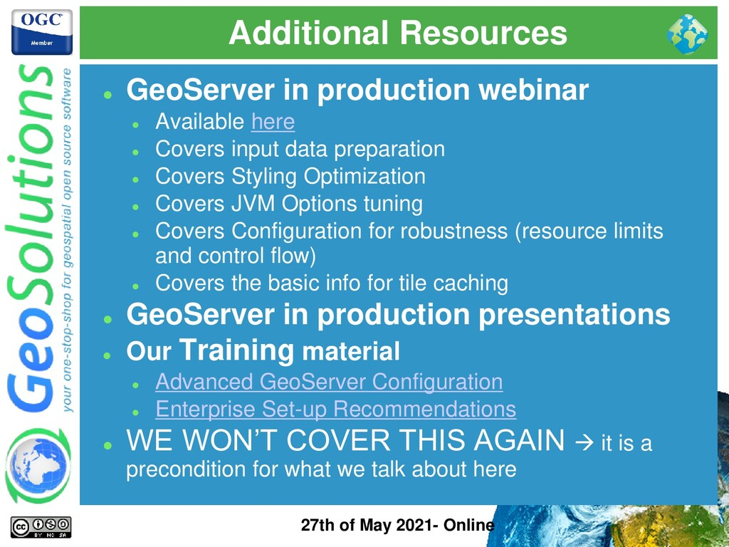 Additional Resources 27th of May 2021- Online ⚫...