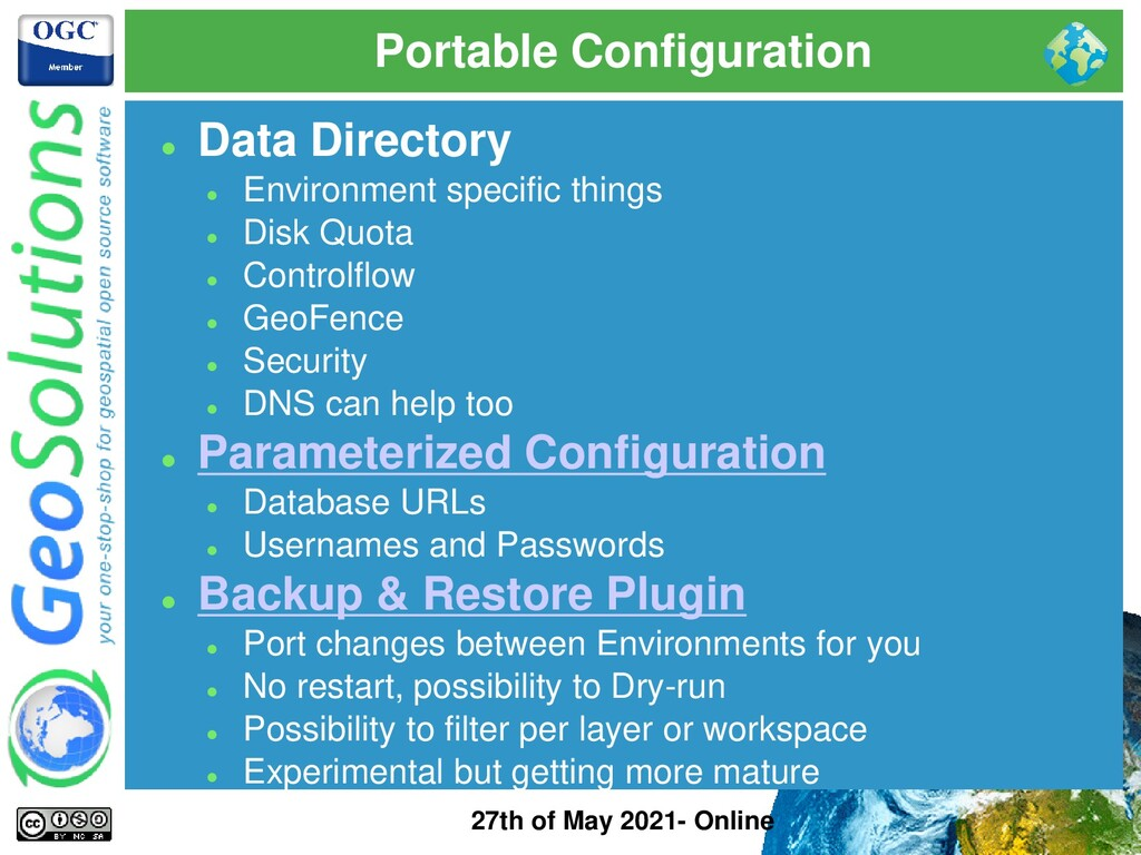 Portable Configuration 27th of May 2021- Online...