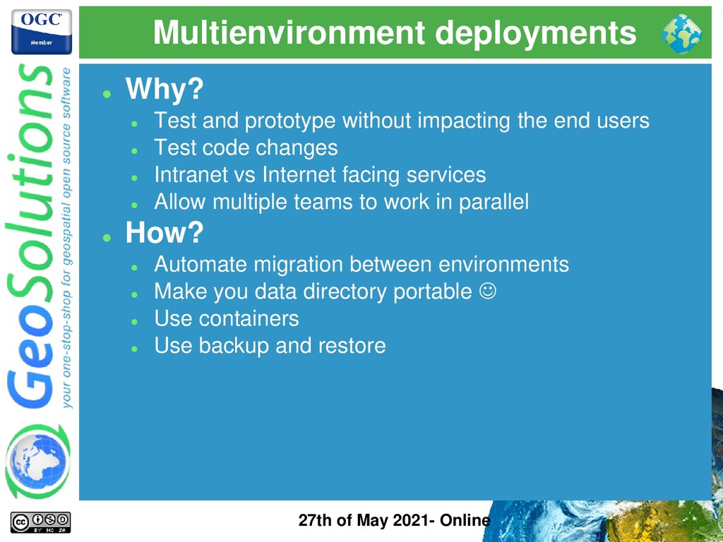 Multienvironment deployments 27th of May 2021- ...