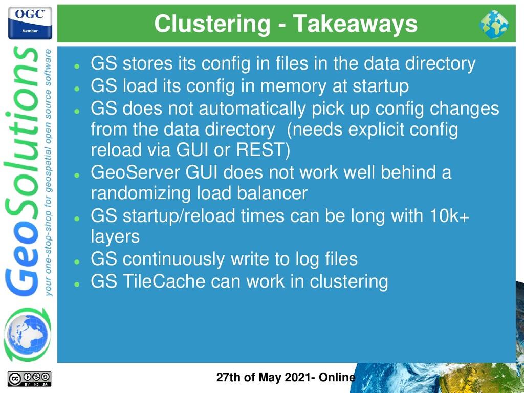 Clustering - Takeaways 27th of May 2021- Online...