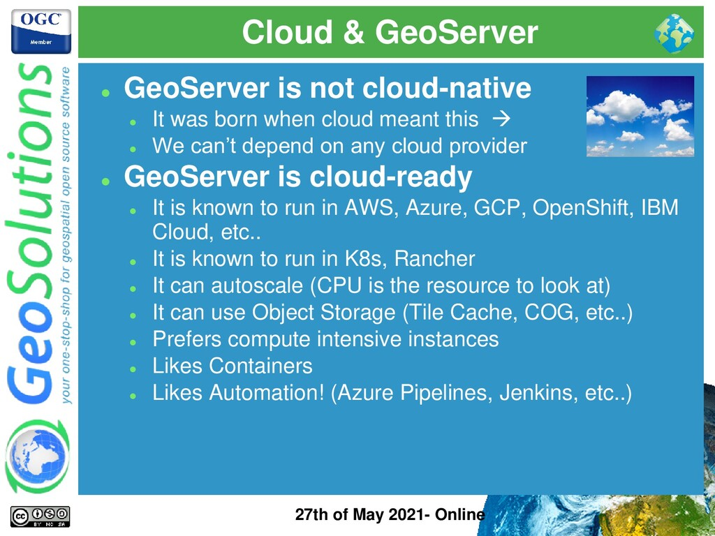 Cloud & GeoServer 27th of May 2021- Online ⚫ Ge...