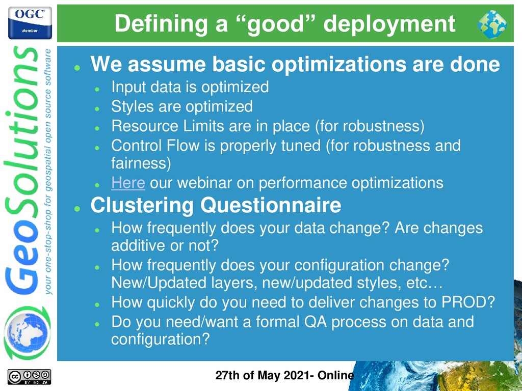 """Defining a """"good"""" deployment 27th of May 2021- ..."""
