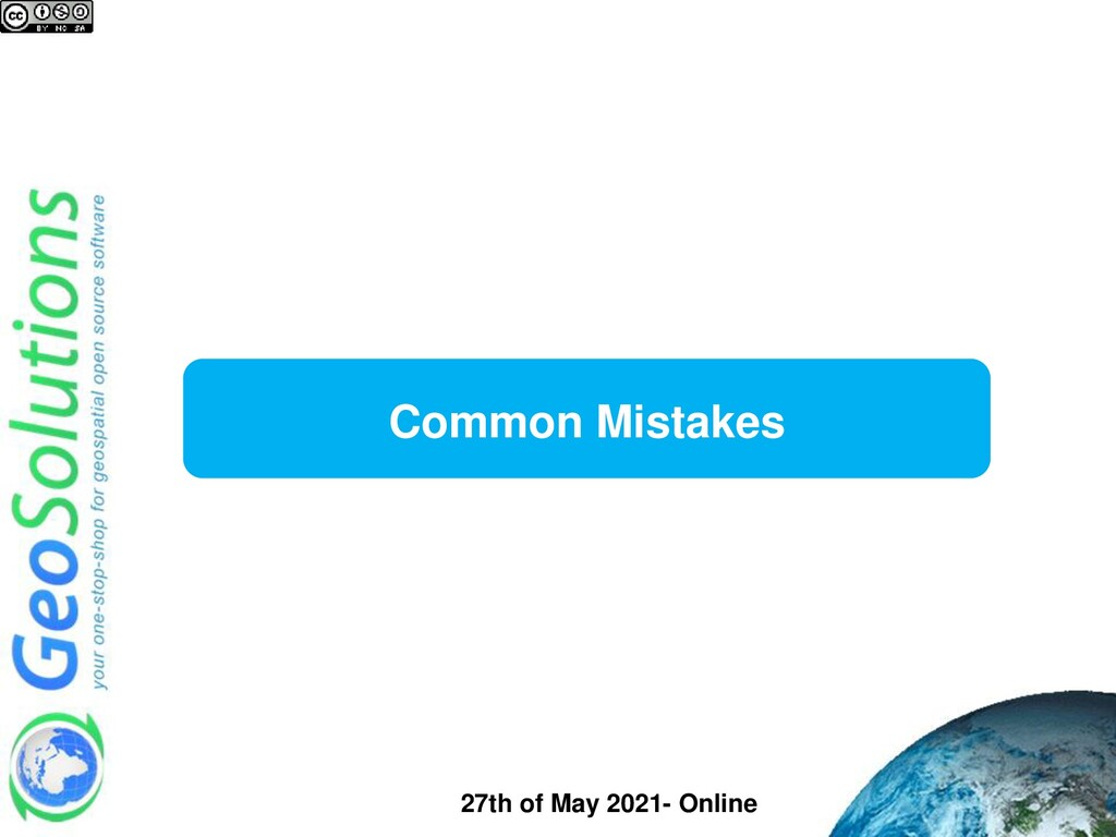 Common Mistakes 27th of May 2021- Online